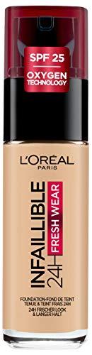 L\'Oréal Paris Infaillible 24H Fresh Wear Make-up in Nr. 100 Linen, hohe Deckkraft, langanhaltend, wasserfest, atmungsaktiv, 30 ml