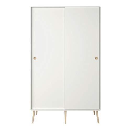 Steens Softline Kleiderschrank, MDF, 113 x 190 x 56 cm, weiß