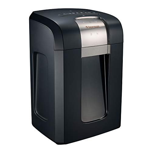 Bonsaii 240-Minute Heavy Duty Paper Shredder, 18-Sheet Cross-Cut for CDs/Credit Cards with Jam Proof System, 7.9 Gallons Pullout Wastebasket and 4 Casters, Black (3S30)