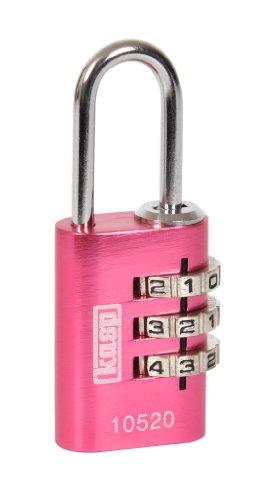 Kasp K10520PIND Zahlenschloss, Aluminium, 20 mm, rosa