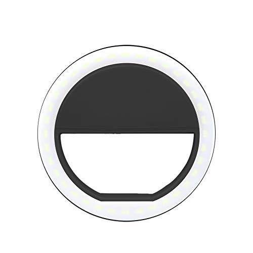 Festnight Selfie LED Light Ring Flash Fill Clip Camera per I-Phone e Tablet Nero