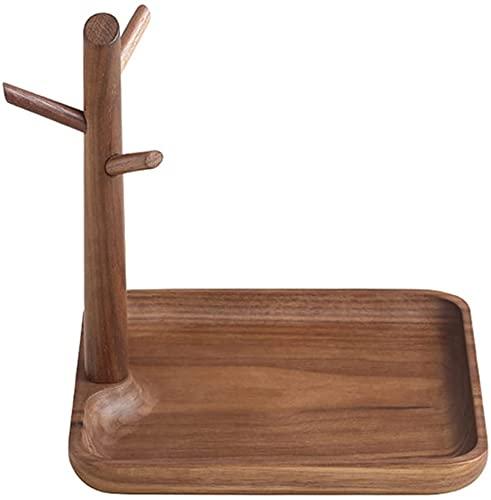 ZHENAO Soporte para joyas con caja de madera, árbol de joyería con caja de joyería, soporte para joyas, almacenamiento de joyas, regalos para mujeres, 30 cm x 12 cm x 21,5 cm Creativit