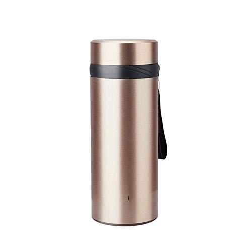 Thermos Travel Mug 304 Hombres y Gran Capacidad Taza de Acero Inoxidable Taza de Filtro Taza de café Taza portátil de Viaje portátil al Aire Libre hogar Taza de Rojo (Color: Dorado)