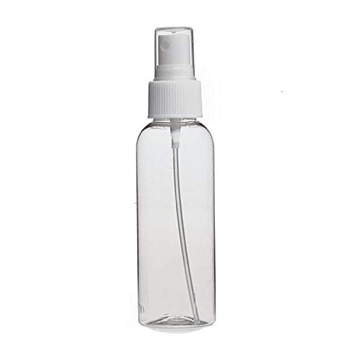 A & Y -store Empty Plastic Transparent Refillable Fine Mist Spray Bottle, (100 ML 2 Pcs.) (MADE IN INDIA)