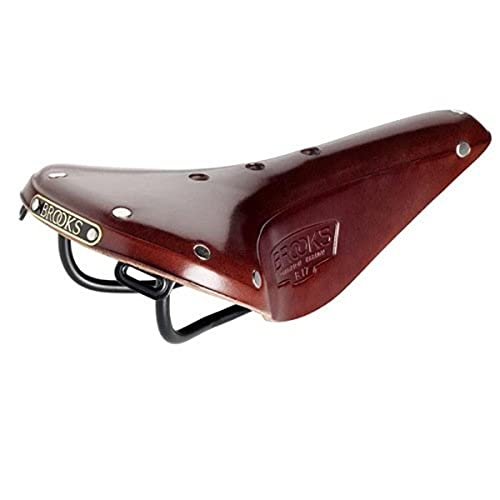 Brooks Saddles B17 Narrow Bicycle Saddle (Black Steel Rails, Antique Brown)