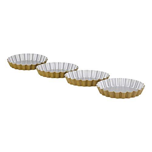 Berndes P501431IT P501431 Lot de 4 boîtes à tartelettes antiadhésives Métal 12,5 cm