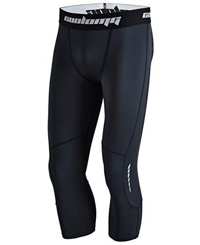 COOLOMG Compression Mallas para Entrenamiento Fitness Deporte. para Hombre Secado rápido Juvenil Infantil 3x s–XXL, Hombre, Color Schwarz (3/4 Hose), tamaño 3XS (Taille: 56cm)