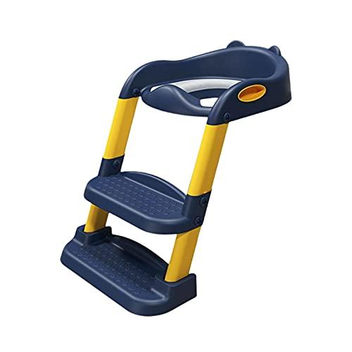 ampusanal Adaptador WC Niños con Escalera, Cojín Cómodo Y Plegable Mango Seguro Antideslizante Escalera De Inodoro para Entrenamiento para Niños Pequeños Niños Niñas Handy