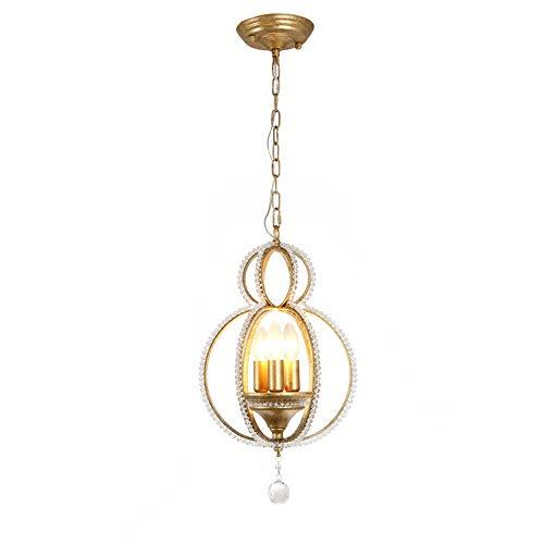 Damai Bola De Cristal Lámpara De Cadena Colgante Creativa Simple Sala De Estar Decoración De Dormitorio Lámpara De Cristal D30 * H40CM