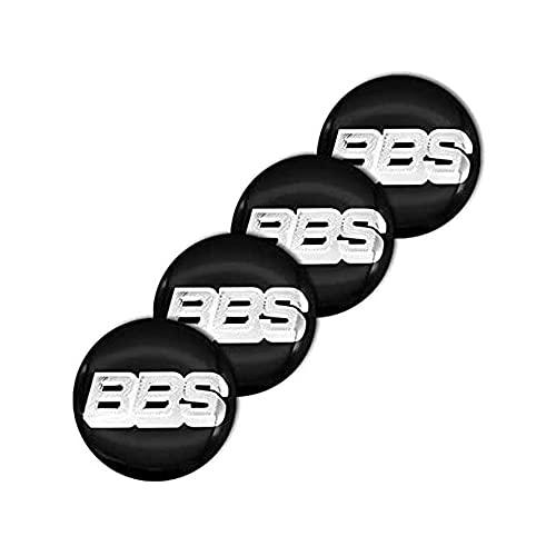 ZXKQ 4 Piezas Tapas Centrales Tapacubos, para für Compatible with BBS Logo 3D Centro De Rueda con Logo ProteccióN Accesorios
