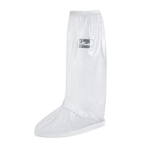AOJIAN Women Men Outdoor Waterproof Prevent Slippery Wearproof Shoes Cover Water Shoes Lightweight Rain Boots (White, 6.5)