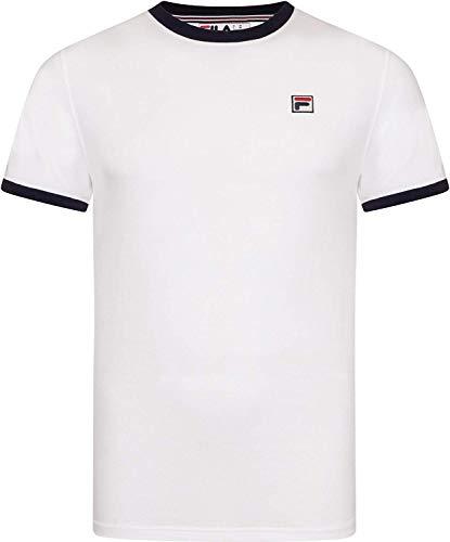 Fila Vintage Uomo T-Shirt Vintage Essenziale, Bianca, Medium