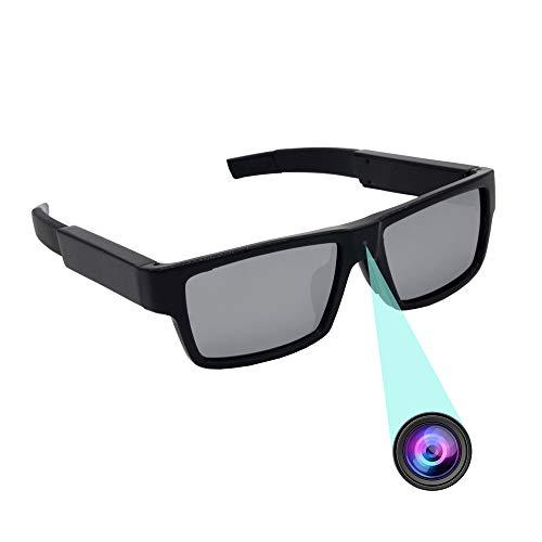 ViView G20P 2018 Nuevo Gafas de Sol Polarizadas Cámara DVR Cámara Invisible Grabadora de Video Gafas Espía 1920 * 1080P Incorporada Tarjeta de 16GB TF, Negro