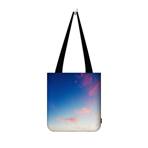 CHSYT landschap hemel blauw gouden zeildoek moet tas handtassen vrouwen dode levensmiddelenwinkel multifunctionele tiener grote rugzak bont