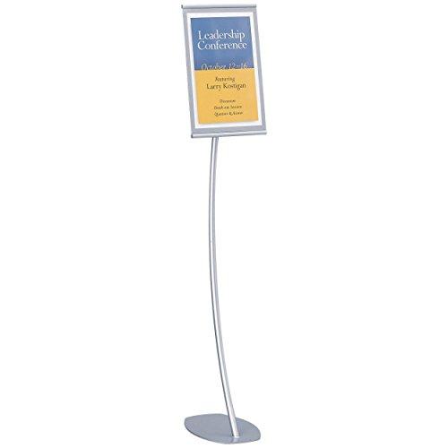 Quartet Designer Sign Stand, 11 x 17 Inches, Silver, Aluminum Frame (7922)