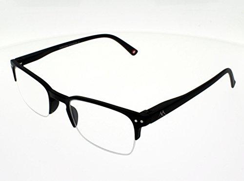 Montana Eyewear Sunoptic MR71 Lesebrille inklusive Soft Etui, schwarz / +3.5 Dioptrien