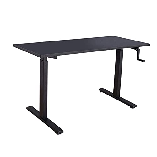 Height Adjustable Standing Desk Frame Only With Heavy Duty Steel Stand Up Desk Standing Computer Lifting Table Frame Hand Crank Manual Adjustable Workbench Home Desktop Computer Desk Frame Beautiful