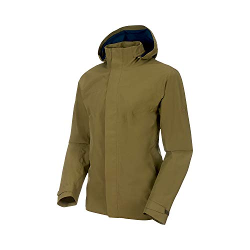 Mammut Herren Trovat T-Shirt Hardshell-Jacke Mit Kapuze, Olive-Poseidon, XL