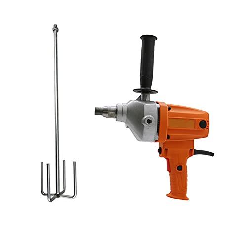 Mezclador de mortero, mezclador eléctrico de paletas de yeso portátil, herramientas de agitación de resina de mano de 6 velocidades, para mezclar pintura, cemento, mortero, etc., Cross shape-5