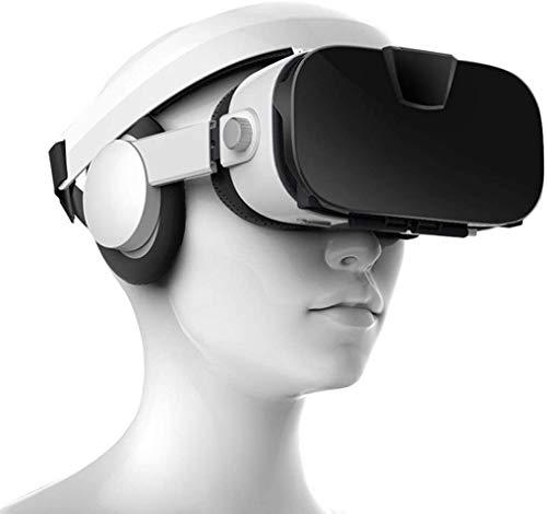 LAHappy 3D VR Gafas de Realidad Virtual, VR Glasses, Auriculares Incorporados, 112 Grados FOV Botón, Gafas VR de Realidad Virtual para Los Móviles de Pantalla 4.0-6.9 Pulgadas