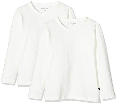 MINYMO M dchen Minymo 2er Pack Blusen mit Langen Ärmeln fürMädchen Bluse, Weiß (Weiss 100), 134 EU