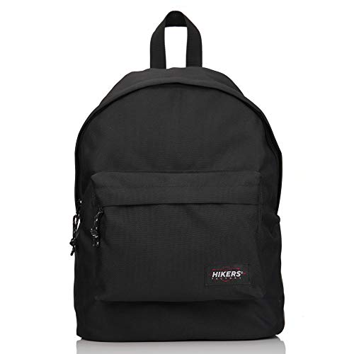 HIKERS Black Laptop Backpack 14 - Teenager Bag Ultra Fashionable and Durable, Ideal for Travel, Sports, College, School, Teenagers Students Men Women, Girl Boy.