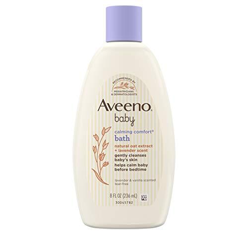 Aveeno Baby Calming Comfort Bath with Lavender & Vanilla, Hypoallergenic & Tear-Free, 8 fl. oz