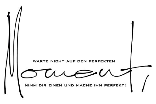 universumsum Wandtattoo Perfekter Moment schwarz 50 x 31 cm uss428-50-070 Wandaufkleber Wandsticker Wandtattoo Wohnzimmer Schlafzimmer selbstklebend