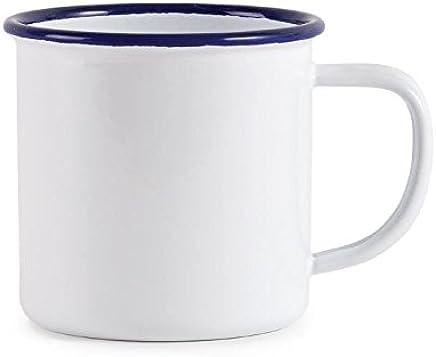 Preisvergleich für 6x Olympia Emaille Tasse 350ml 12Fl Oz Edelstahl Trinkbecher Spülmaschinenfest
