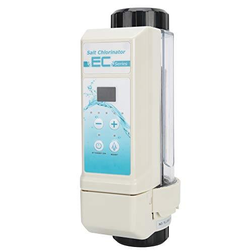EC12 Generador de cloro de agua salada, 12 g / h Generador de agua salada Clorador Célula generadora de cloro salino, Función de limpieza automática Admite tanques de natación de 60㎡, para piscina