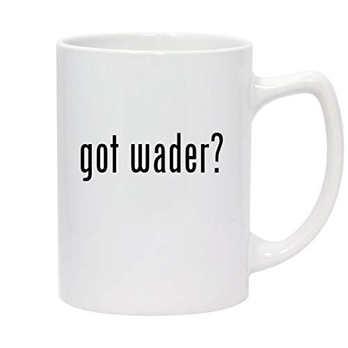got wader? - 14oz White Ceramic Statesman Coffee Mug