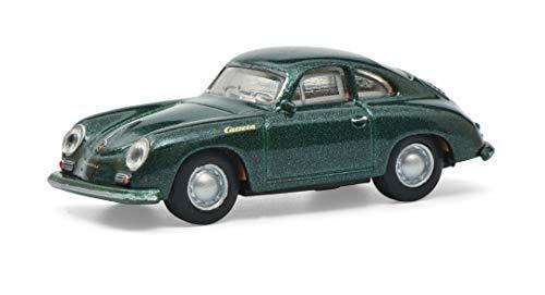 Schuco 452658000 - Modellino Auto Porsche 356A Coupé, Carrera, Scala 1:87, Colore: Verde Metallizzato