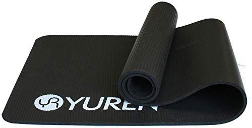 YUREN Fitnessmatte Yogamatte 183 x 61 x 1,5cm NBR Schaumstoff phthalatfrei SGS geprüft ideal für Yoga, Pilates&Fitness, mit Tasche und Trageband
