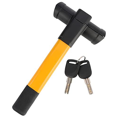 Cerradura antirrobo, retráctil para volante de coche, resistente en T, abrazadera universal para volante con 2 llaves para coches, remolques, furgonetas, caravanas