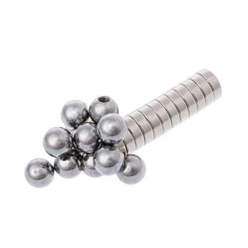 JENOR Pack of 12 Screw Ball + Round Magnetic Holder for 3D Printer Reprap Delta Kossel K800