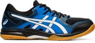 ASICS Gel Rocket 9 Mens Indoor Court Shoe (Black/Blue) (Numeric_9_Point_5)