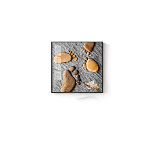 Pinturas en lienzo con huellas de piedra bonitas, impresiones, imágenes artísticas de pared, cuadros de banksy, decoración del hogar para el dormitorio de la familia del bebé, 50 x 50 cm, sin marco