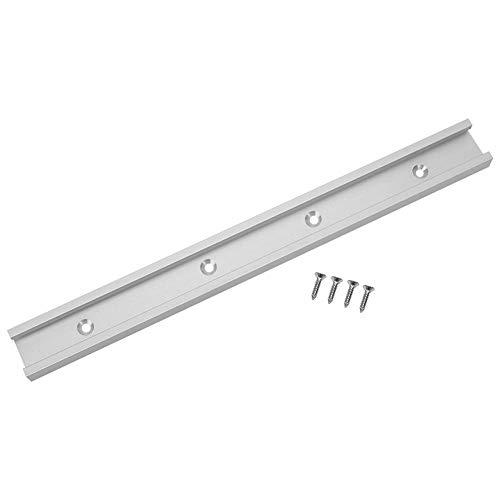 Aleación de Aluminio T-Slot Mitre Track Jig Fijación de losa Deslizante no porosa Herramienta para Trabajar la Madera Durable(0.6m)