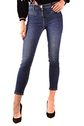 Elisabetta Franchi Luxury Fashion Donna MCBI38537 Blu Elastan Jeans | Stagione Outlet
