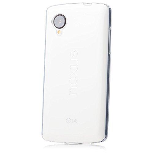LGGoogle Nexus 5 | iCues Transparent TPU Hülle Klar | [Bildschirm Schutzfolie Inklusive] Transparent Klarsichthülle Durchsichtig Klare Klarsicht Silikon Gel Schutzhülle Hülle Cover Schutz