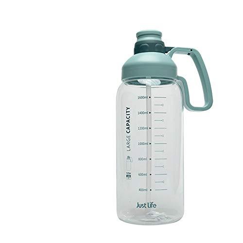 CXL Vaso de Agua portátil de Gran Capacidad, Vaso de Agua de Paja Deportiva con báscula, Vaso al Aire Libre, Botella de Agua Grande para Ejercicios