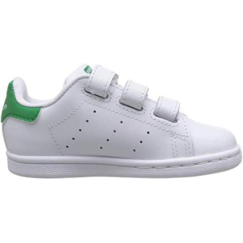adidas Stan Smith CF I, Scarpe da Fitness Unisex-Bambini, Bianco (Ftwbla/Verde 000), 24 EU