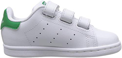 adidas Stan Smith CF I, Zapatillas Unisex bebé, Blanco (Footwear White/Footwear White/Green 0), 26 EU
