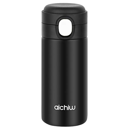 Thermos Water Bottle Mini Coffee Travel Mug Stainless Steel Thermos Cup Vacuum Insulated for Hot & Cold Drinks, Perfect for Biking, Backpack, Camping, Office or Car (10 OZ/300ML)
