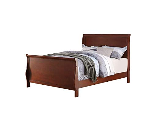 Poundex Twin Bed, Brown
