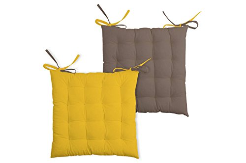 Lovely Casa DUO GALETTE 16PTS 40X40 CM, UNI, Giallo