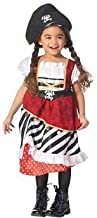 Girls Caribbean Pirate Halloween Costume 2 Piece, Multicolor, Small, Dress Up