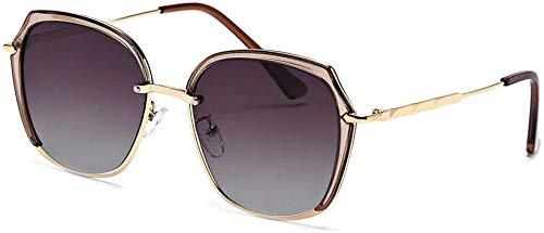 Unisex super leicht polarisierte Sonnenbrille, HD-Objektiv 100% UV-Schutz Aviator Large Metal verspiegelten Sonnenbrillen (Farbe: Lila, Größe: Beiläufig Größe)