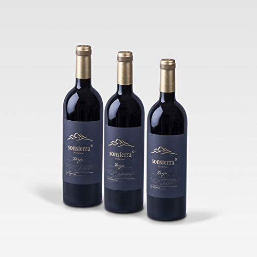 Pack 3 botellas Sonsierra Reserva 14, DOCa Rioja, Vino Tinto Tempranillo 75cl.