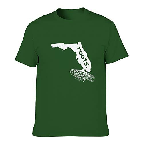 Ouniaodao Roots State Florida FL Camisetas - Hometown para hombre